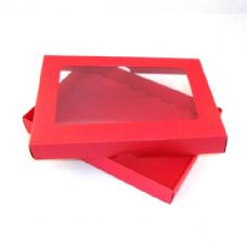 "5"" x 7"" Red Invitation Boxes With Aperture Lid"